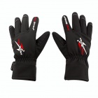 PRO-BIKER DXMS-05 Motorcycle / Bicycle Warm PU Leather + Nylon Racing Gloves - Black (Pair / L)