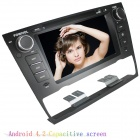 "LsqSTAR 7"" Capacitive 2Din Android 4.2 Car DVD Player w/ GPS WiFi BT Canbus for BMW E93/E90/E91/E92"