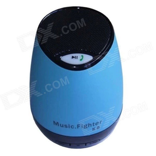 Portable USB2.0 Bluetooth V2.1+ EDR Stereo Mini Speaker w/ Hand Free / TF Funcrtion - Blue + Black