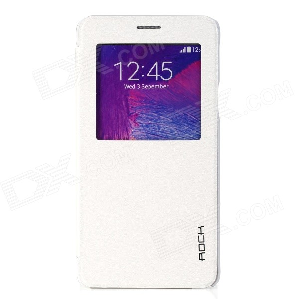ROCK Uni Series Protective PU + PC Case w/ Display Window / Auto Sleep for Samsung Galaxy Note 4 protective pu leather case w display window for samsung galaxy note 3 n9000 white