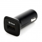 ihave 5V 2.4A Universal High-speed Mini Car Charger for IPHONE / IPAD + More - Black