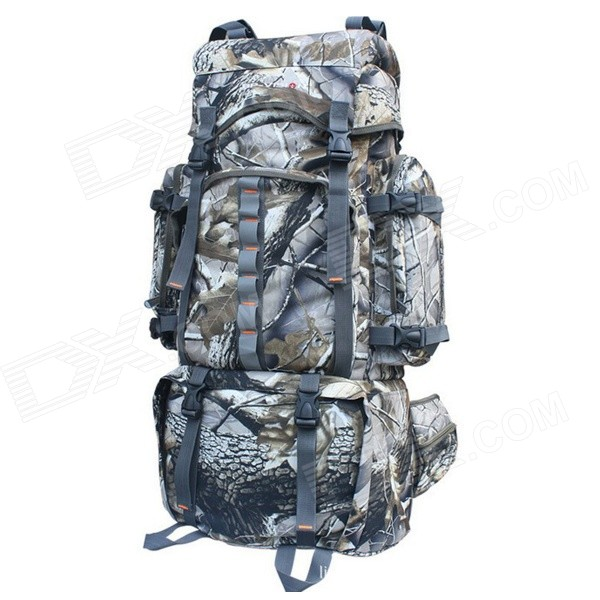 HJ116 Large Capacity Outdoor Sports Travel Dacron Backpack - Camouflage (80L)