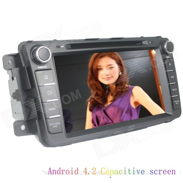 LsqSTAR 8 Capacitive 2Din Android4.2 Car DVD Player w/ GPS WiFi BT Canbus for Mazda CX-9 2012-2014 автомобильный dvd плеер lg 2 din 8 dvd gps mazda 3 android 3g wifi tv aux bluetooth