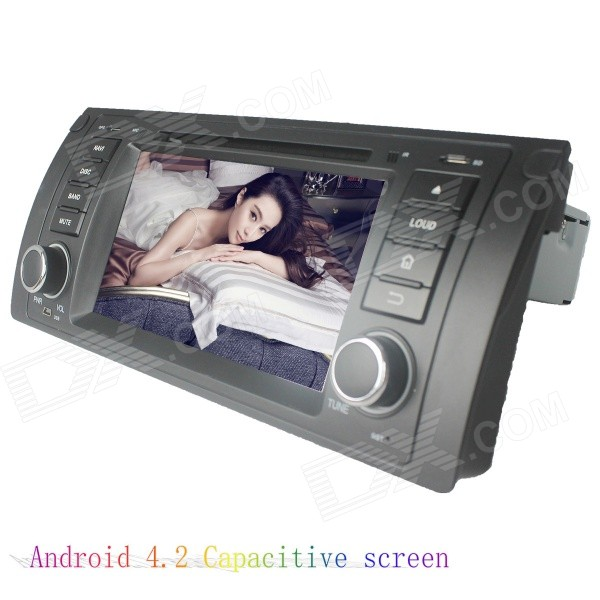 цена на LsqSTAR 7 Capacitive 2Din Android 4.2 Car DVD Player w/ GPS WiFi Canbus FM BT for BMW E39/E53/M5/X5