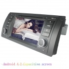 "LsqSTAR 7"" Capacitive 2Din Android 4.2 Car DVD Player w/ GPS WiFi Canbus FM BT for BMW E39/E53/M5/X5"