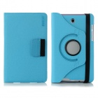 ENKAY 360 Degree Rotation Protective Case with Card Slots for Asus Fonepad 7 / ME372CG - Light Blue