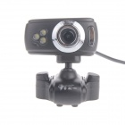 RAYANTS C-005 8.0MP HD Webcam with Night Vision Light - Black + Sliver