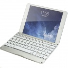 Aluminum Bluetooth V3.0 Keyboard Case w/ Colorful Backlight for IPAD MINI - Silver + White