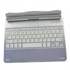 Full Body Case Bluetooth Wireless Keyboard Keypad with 360 Rotation Stand for IPAD AIR - Silver