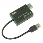 Winyao USB1000F-LX USB 3.0 1000Mbps Fiber Optical Network Card w / SFP optický modul - Black