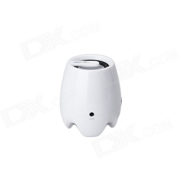 Portable Bluetooth v3.0 Speaker w/ TF - White + Silver