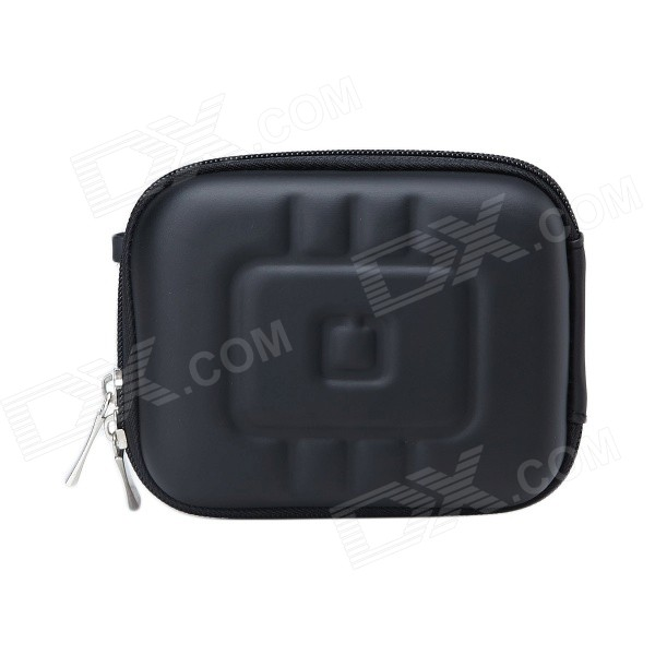 Portable Mini EVA Protective Camera Case Portable Bag - Black