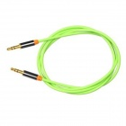 Yellow Knife YK 15 3.5mm Male to Male Audio Connection Cable for Mobile, Car AUX - Green (1m)