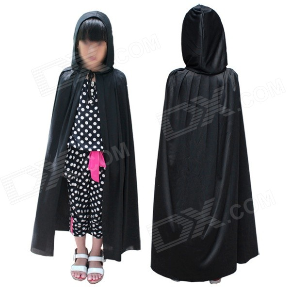 Kids' Death Cloak Mantle for Halloween / Costume Party / Cosplay - Black (M) devil may cry 4 dante cosplay wig halloween party cosplay wigs free shipping