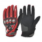 PRO MCS23 Men's Motorcycle Racing Full Fingers Gloves - Red + Black + Grey (L / Pair)