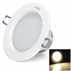 HUGEWIN HTD774 5W 240lm 3000K 5-SMD 3030 LED Warm White Ceiling Lamp - White (AC 220~240V)