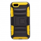 "NEJE FS0002-1 3-in-1 Multifunction Silicone Case for IPHONE 6 4.7"" - Yellow + Black"