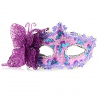 Stylish Butterfly Decorated Shiny Powder Finish Mask for Halloween / Costume Party / Ball - Purple