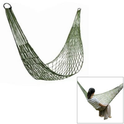AOTU Outdoor Camping Single Person Nylon Mesh Swing Hammock - Green