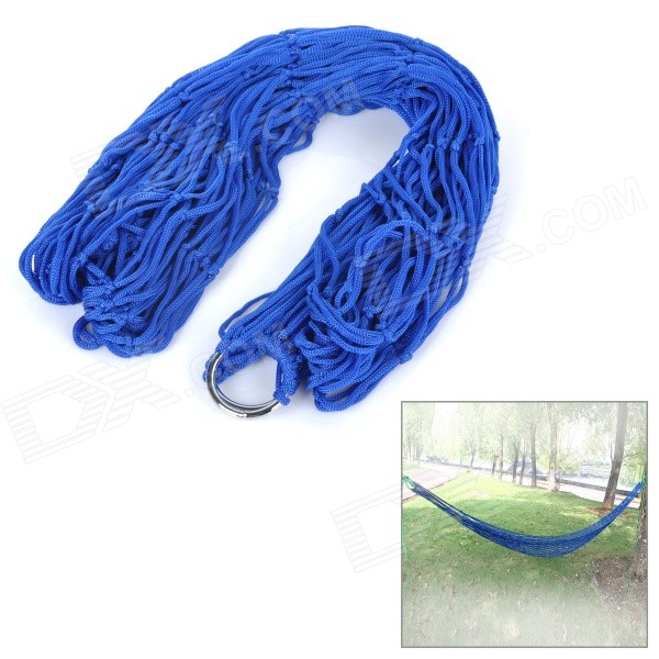 AOTU ATA32 Outdoor Camping Portable Single Person Nylon Mesh Swing Hammock - Deep Blue 627 full zro2 ceramic deep groove ball bearing 7x22x7mm good quality