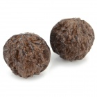 BJQ-004 Agalloch Walnut Style Hands Health Care Balls - Brown (2 PCS)