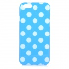 "Stylish Polka Dot Patterned Protective Silicone Back Case Cover for IPHONE 6 4.7"" - Blue + White"