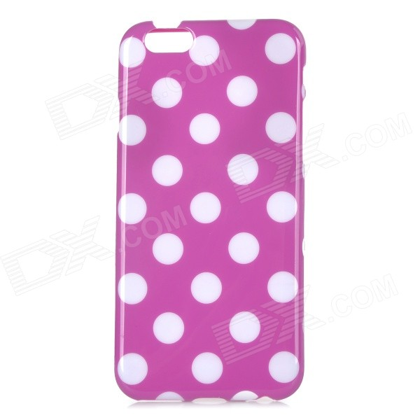 Stylish Polka Dot Patterned Protective Back Case Cover for IPHONE 6 4.7 - Purple + White аксессуар чехол xiaomi mi note skinbox slim silicone transparent t s xmn 006