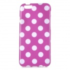 "Stylish Polka Dot Patterned Protective Back Case Cover for IPHONE 6 4.7"" - Purple + White"