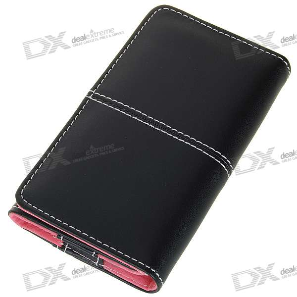 Flip-On Protective PU Case for Iphone 2G/3G/3GS (Black)