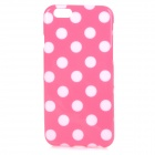 "Stylish Polka Dot Patterned Protective Back Case Cover for IPHONE 6 4.7"" - Pink + White"