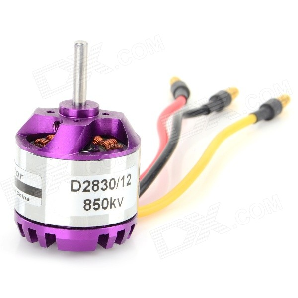 D2830/12 DIY 187W 850KV Brushless Motor for Quadcopter R/C Helicopter - Purple + Yellow 30a brushless four axis motor w bec for r c helicopter yellow