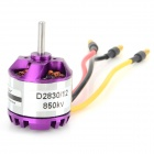 D2830/12 DIY 187W 850KV Brushless Motor for Quadcopter R/C Helicopter - Purple + Yellow
