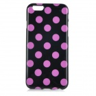 "Stylish Polka Dot Patterned Protective Back Case Cover for IPHONE 6 4.7"" - Black + Purple"