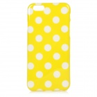 "Stylish Polka Dot Patterned Protective Silicone Back Case Cover for IPHONE 6 4.7"" - Yellow + White"