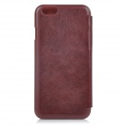 "Protective Flip-Open PU Case Cover w/ View Window for IPHONE 6 4.7"" - Brown"