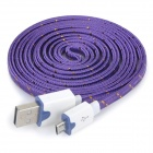 USB Male to Micro USB Male Data Charging Cable for Samsung / HTC / Sony / Xiaomi + More - Purple