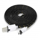 USB Male to Micro USB Male Data Charging Cable for Samsung / HTC / Sony / Xiaomi / LG + More - Black