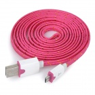 USB Male to Micro USB Male Data Charging Nylon Cable for Samsung / HTC / Sony / LG / Huawei / Xiaomi