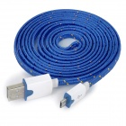 USB Male to Micro USB Male Data Charging Cable for Samsung / HTC / Sony / Xiaomi / LG + More - Blue