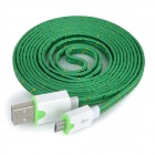 USB Male to Micro USB Male Data Charging Cable for Samsung / HTC / Sony / Xiaomi / LG + More - Green