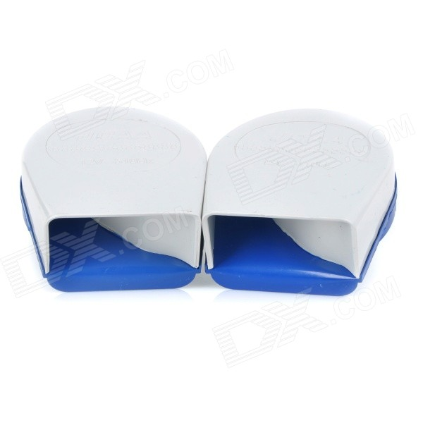 KX-3001 Motorcycle Electronic 25W 18-Tone Loud Echo Horn Speaker - White + Blue + Black (Pair)