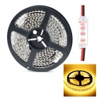 HML D35 Dual-Row 96W 4500lm 3300K 1200-SMD 3528 LED Warm White Light Strip - White (5M / DC 12V)