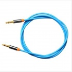 Yellow Knife YK15 3.5mm Male to Male Audio Connection Cable for Mobile Phone / Car - Light Blue (2m)