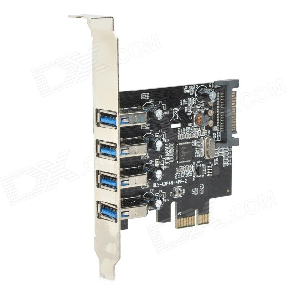 ULANSON PCIE Expansion Card w/ External 4-Port USB 3.0, Low Profile, SATA 15-Pin Power Socket am 020 брелок знак зодиака рак латунь янтарь