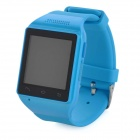 "ZGPAX S18 GSM Watch Phone w / 1,54 ""tela capacitiva, Quad-band, Bluetooth, FM - Azul (US)"