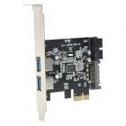 ULANSON PCIE Expansion Card w/ 2-Port USB3.0, 15-Pin SATA Connector, Low Profile