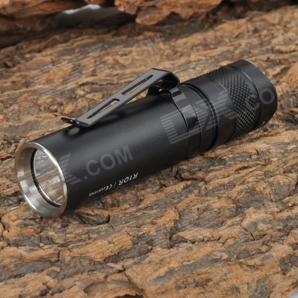 Sunwayman R10R 205lm 2-Mode Cool White LED Compact and Elegant EDC Flashlight - Black (1 x CR123A)