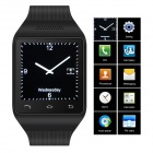 "ZGPAX S18 GSM Watch Phone w/ 1.54"" Capacitive Screen, Quad-band, Bluetooth, FM - Black (UK)"
