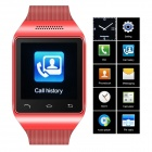 "ZGPAX S18 GSM Watch Phone w/ 1.54"" Capacitive Screen, Quad-band, Bluetooth, FM - Red (UK)"