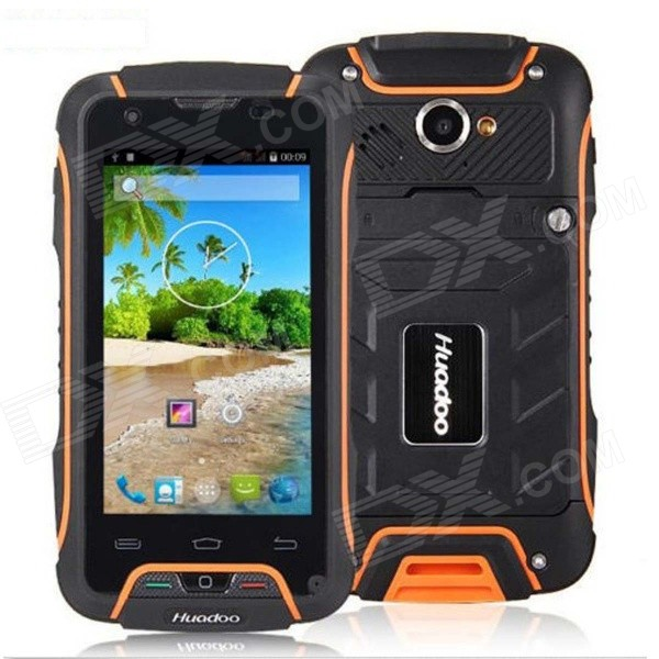 "Huadoo V3 IP68 Wasserdicht Quad-Core-Android 4.4 3G Smartphone w / 4.0 "", WLAN, NFC, 8 GB ROM, Bluetooth"